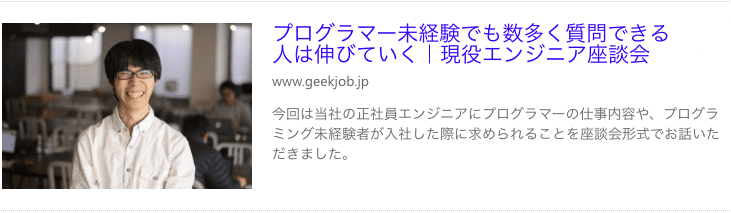 GEEK JOB BLOG体験談1
